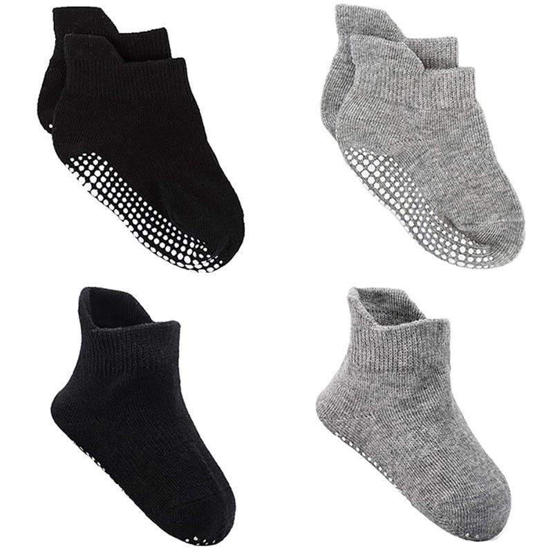 New Non-slip Socks For Children Baby Ankle Socks Dots Soles Cotton Spandex Infants Toddlers Little Kids Footwear Sportswear