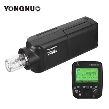 YONGNUO YN200 TTL HSS 2 4G 200W bateria litowa kompatybilny z YN560-TX (II) YN560-TX Pro YN622 dla Canon aparat nikon tanie i dobre opinie other AC adapter 5600l flash