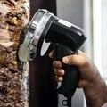 Электрический слайсер для кебаба нож для шаурмы ручной аппарат для резки мяса Гироскопический нож 220-240 в 110 В два лезвия