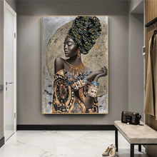 African Black Woman Graffiti Art Posters And Prints Abstract African Girl Canvas Paintings On The Wall Art Pictures Wall Decor