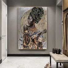 Mulher negra africana graffiti arte cartazes e impressões abstracto menina africana quadros em tela na parede fotos