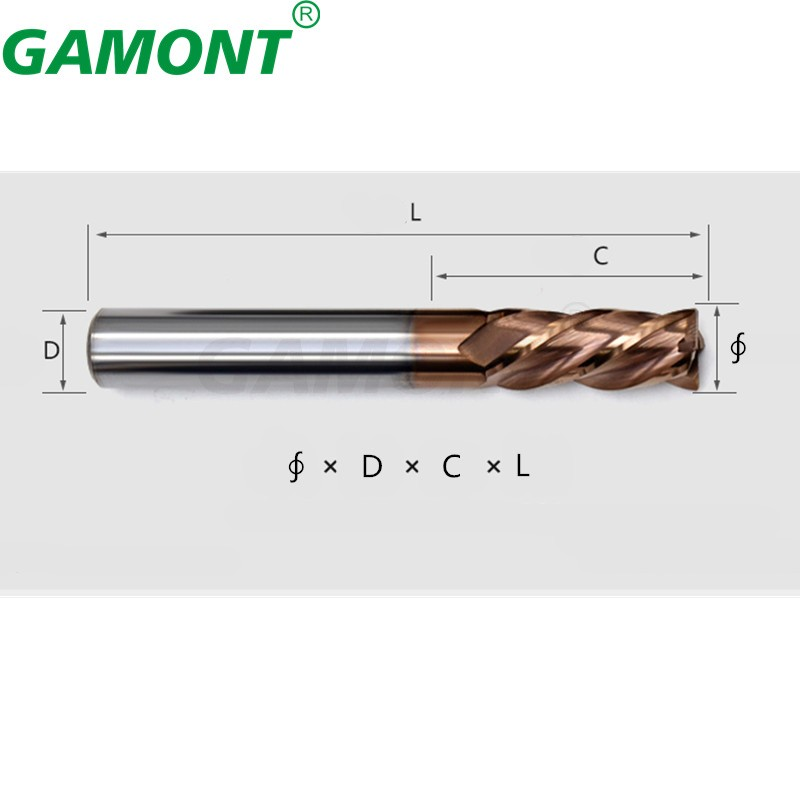 Gamont fresa liga revestimento ferramenta de aço