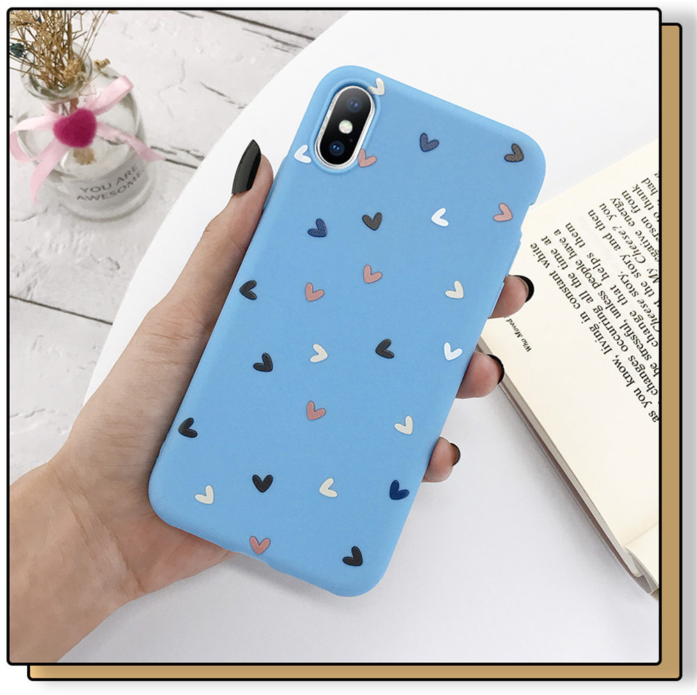 H71b054a34d5b4d96ad1ca33f8a8c4b45M - Lovebay Silicone Love Heart Phone Case For iPhone 11 Pro X XR XS Max 7 8 6 6s Plus 5 5s SE Candy Color Shell Soft TPU Back Cover