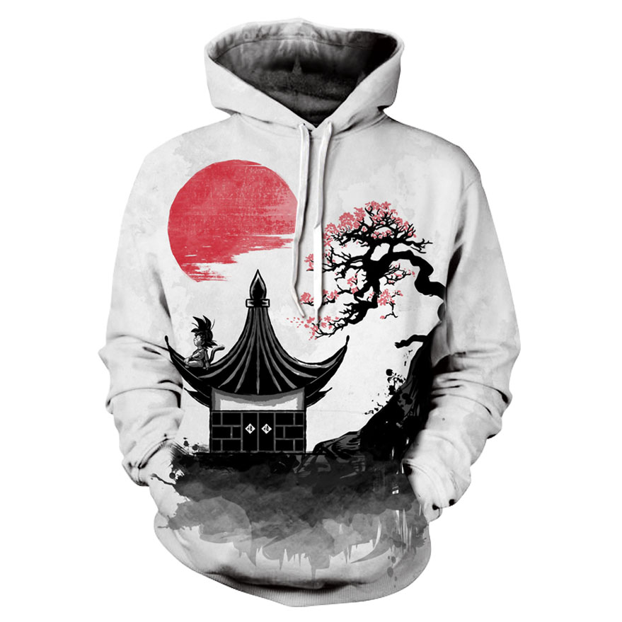 Newest Anime Print Dragon Ball Z 3D Hoodie Men/Women Brand Sweatshirt Dragonball Z Child Goku Pocket Hooded Fashion Streetwear