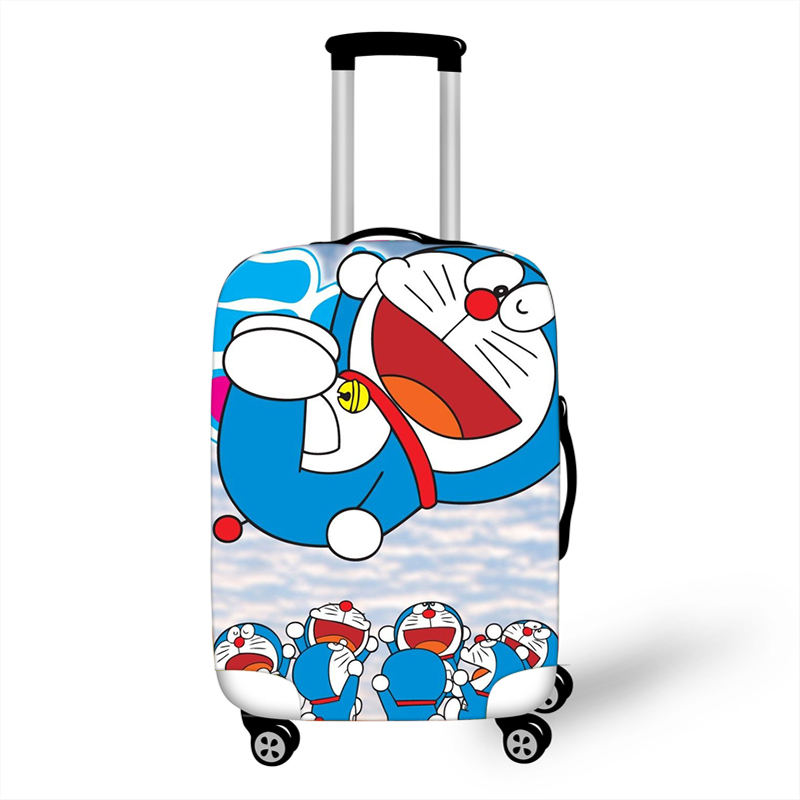 18-32 Inch Doraemon Elastic Thicken Luggage Suitcase Protective Cover Protect Dust Bag Case Cartoon Travel Cover