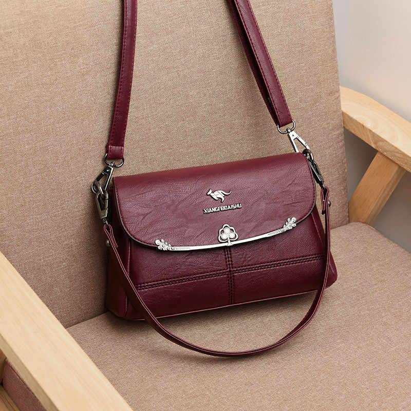 Mewah Tas Wanita Tas Desain Vintage Wanita Messenger Tas Wanita Kulit Bahu Crossbody Tas untuk Wanita Tas untuk Wanita