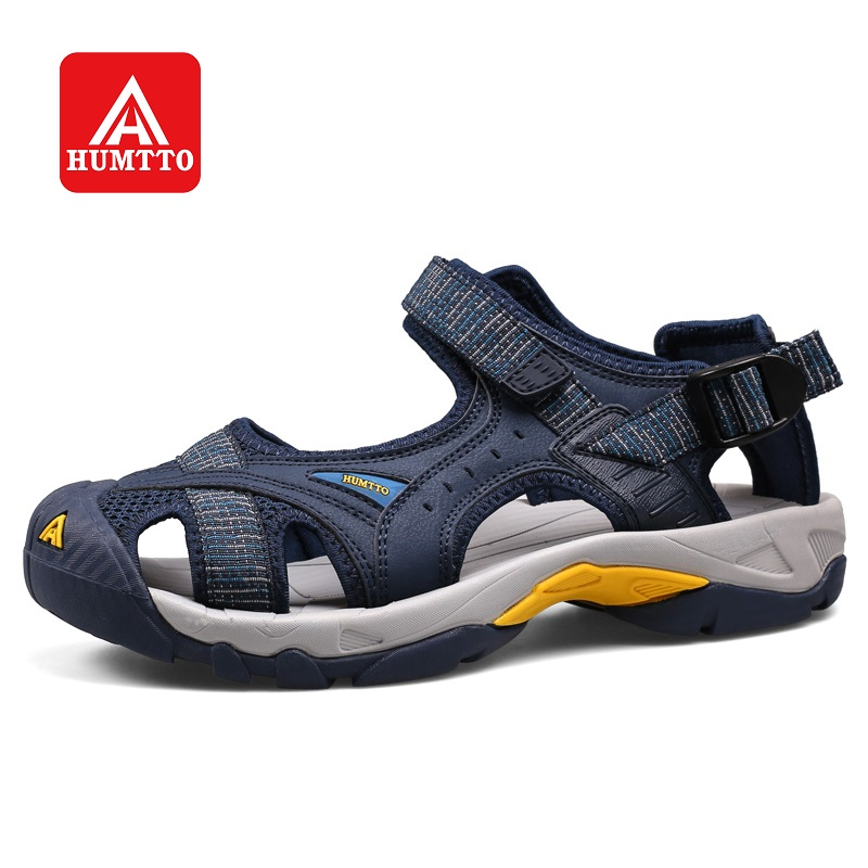 HUMTTO Outdoor Women's Sandals Men Beach Shoes Anti-collision Summer Aqua Shoes Rubber Air Mesh Wading Quick Drying Sneaker
