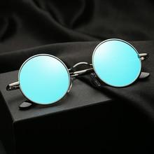 Retro Punk Style Round Polarized Sunglasses Men Women Brand