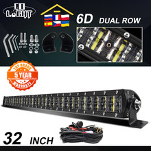 CO LIGHT 6D Led Light Bar 12V 180W Offroad Led Bar 32 pollici Spot Flood Combo Led Beam Work Light 4x4 per trattore SUV ATV 24V