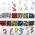 720-2000Pcs Mix Farbe Strass Set / Flatback Kristall Hot Fix Strass Set für Bekleidungs Dekoration DIY Helle glas Strass