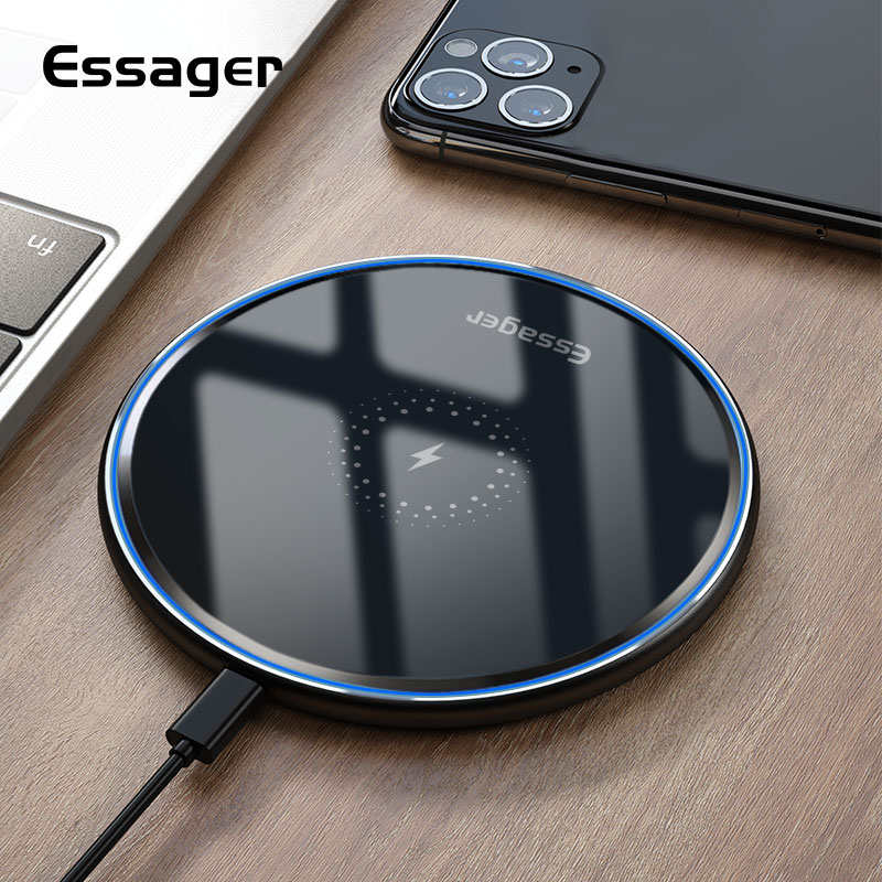 Essager Qi Wireless Charger Fast Wireless Charging Pad Induction Wirless Charger For IPhone 11 Pro X Xiaomi Mi 9 10 Samsung S20