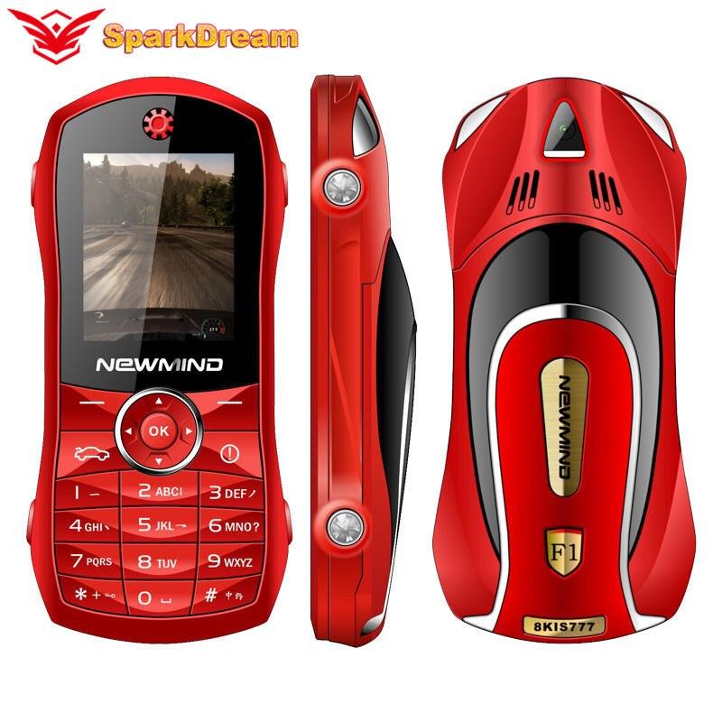 "F1 Push Button Mobile Phone 1.8"" Mini Car Key Student Dual Sim Camera MP3 Model Shape Children Toy Luxury Small Size Telephone"