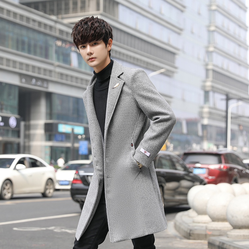 Man Classic Fashion Trench Coats 2019 Black Red Army 5XL Men Long Trench Slim Fit Overcoat Men Coats Fashion Trench Outerwear