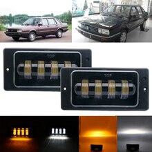 2PCS Waterproof 30W 3000K 6000K White Amber Led Fog Light fog Headlight Passing Light for Lada 2110  2117 cars front fog Lamp