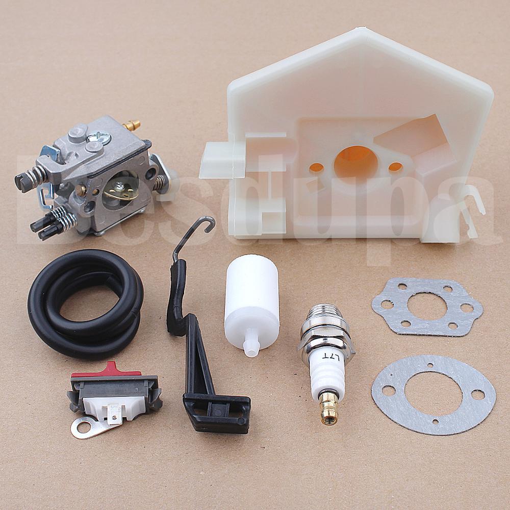 Tools : Carburetor Switch Fuel Air Filter Line For Husqvarna 55 50 51 Chainsaw 503281504 530717901 w Coke Rod Lever Gasket Spark Plug