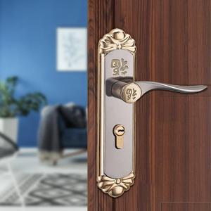Image 3 - Cerradura inteligente para puerta, manija interior duradera europea, cilindro de cerradura de puerta con llaves, cerradura para manija de puerta