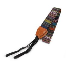 Universal Camera Neck Shoulder Wrist Strap Vintage Carrying Belt for Nikon Canon Sony Lumix QJY99(China)