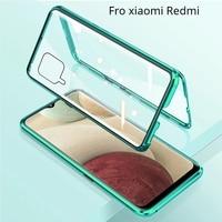Funda de Metal de adsorción magnética 360 para Xiaomi Redmi Note 10, 9, 8, 7 Pro, 8T, 9A, 9C, 11, 10T, X3, cubierta de vidrio de doble cara