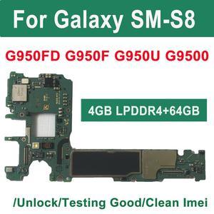 Image 1 - BINYEAE Gốc 64GB Cho Samsung Galaxy S8 G950F G950FD G950U Chính Bo Mạch Chủ Mở Khóa IMEI Knox 0*0