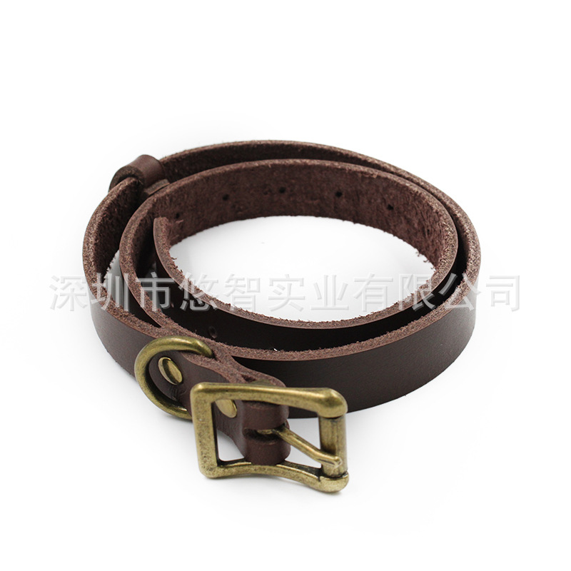 Pet Supplies First Layer Genuine Leather Pet Collar In Large Dog Traction Belt Adjustable Hand Holding Rope