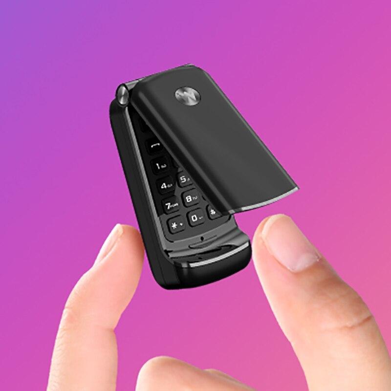 """F1 Mini z klapką na telefon komórkowy 0.66 """"najmniejszy telefon komórkowy bezprzewodowy Dialer Bluetooth FM Magic Voice bezprzewodowy zestaw słuchawkowy GSM"""