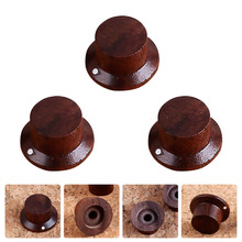 3 Pcs Rose Wood Effect Pedal Control Amplifier Knobs for Electric Guitar Bass