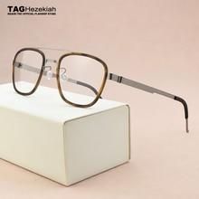 2019 패션 브랜드 광장 안경 여성 티타늄 안경 프레임 남자 광학 안경 프레임 여성 스펙터클 프레임 남자 9708