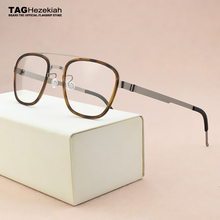2019 fashion brand Square eyeglasses Womens titanium glasses frame men optical glasses frame women spectacle frames Mens 9708