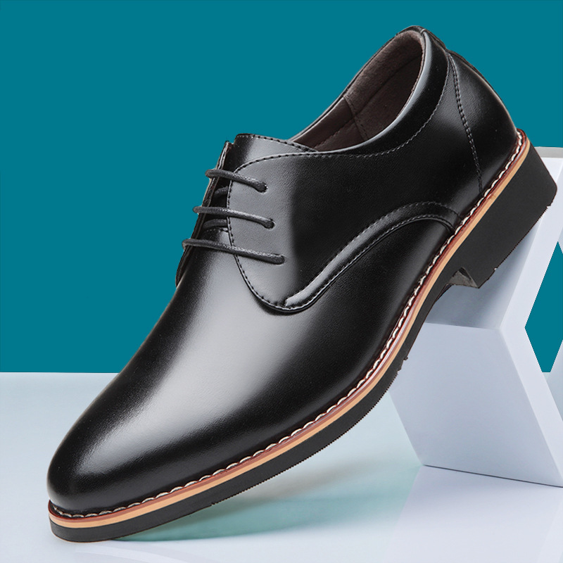New Black Brown Fashion Men Casual Pointed Top Formal Business Male Wedding Dress Flats Oxfords Men Leather Shoes 559