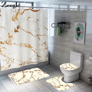 Image 1 - Tappetino da bagno antiscivolo e Set tenda da doccia bagno decorazione della casa tappeto cuscino sedile wc con Set tappetino assorbente