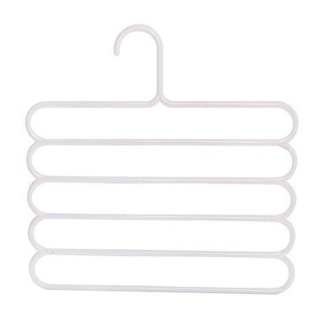 Многофункциональная сушилка для брюк вешалка для хранения брюк вешалка для одежды держатель для полотенец шкаф-Органайзер - Цвет: White