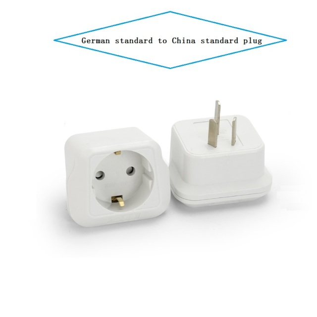 EU to CN plug Travel Power Adapter electric appliance adaptor German standard to China standard Converter Electrical Plug