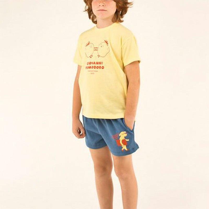 2020 Fashion Brand Kids Summer Tshirt and Shorts Toddler Boys Girls Orange T Shirts Children Stylish Tee Shirt Baby Cartoon Tops 3