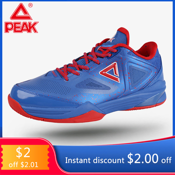 PEAK Basketball Shoes TONY PARKER IV Men Basketball Sneakers Outdoor Sports Sneakers Shoes Cushioning Breathable for Men E61323A