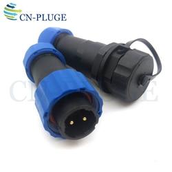 SP16 2-pin Aviação Conector À Prova D' Água LED de alimentação Docking Conectores Plug & Tomada Macho e Fêmea IP68