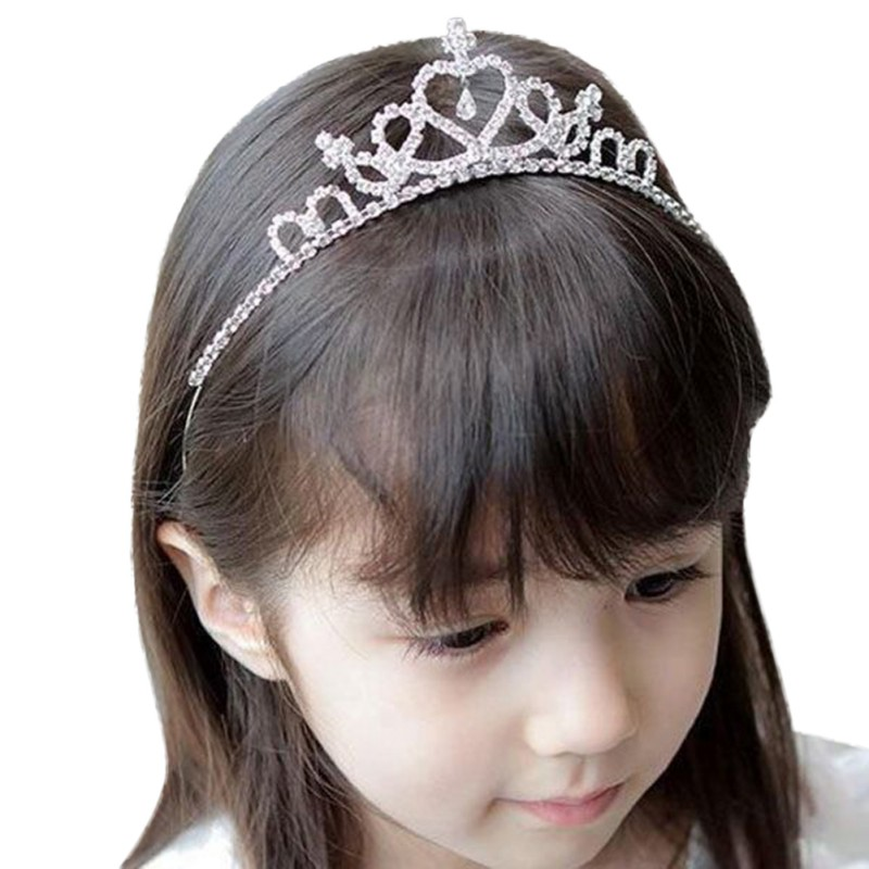 1PC Baby Girls Woman Princess Hairband Kids Party Bridal Crown Headband Crystal Diamond Princess Hoop Hair Bands Accessories