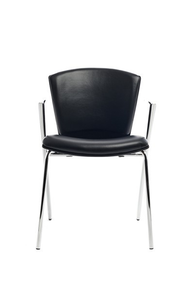 CHAIR CONFIDANTE RD-966 SKIN BLACK (Pack 2 Units)
