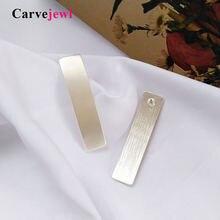 Carvejewl длинные прямоугольные серьги гвоздики для женщин в