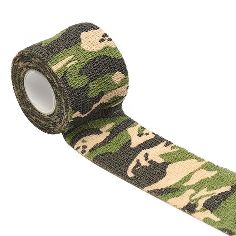 Outdoor camouflage nicht-woven selbst-adhesive elastische bandage 7,5 CM X 4,5 M camouflage wasserdichte multi-funktionale verband