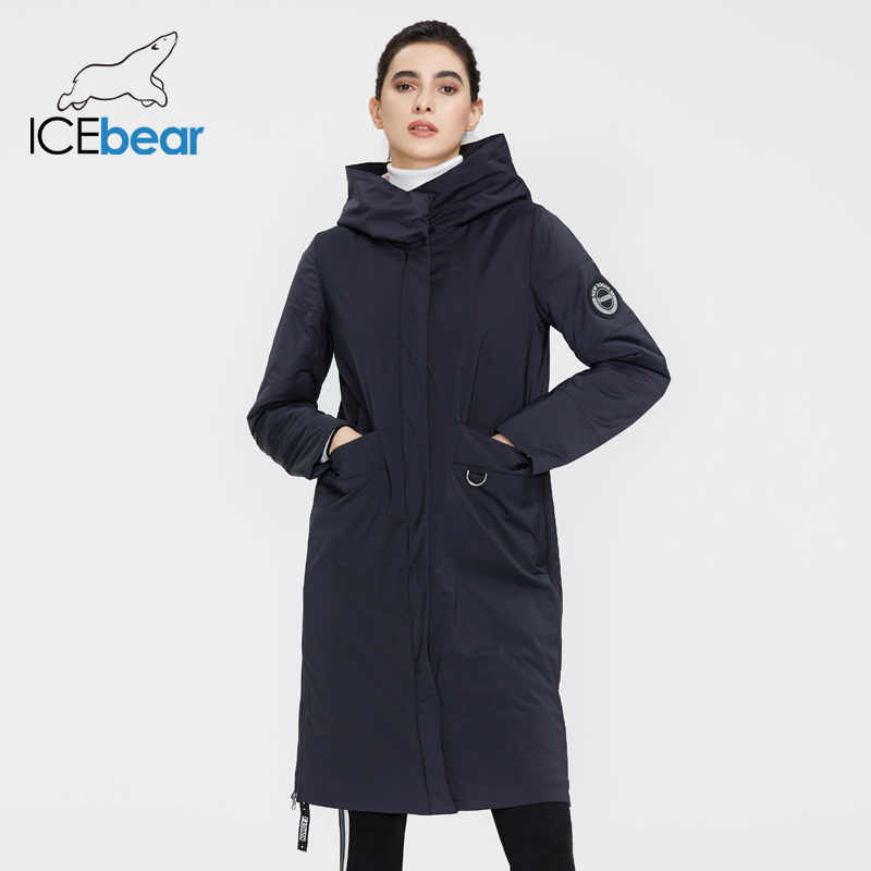 ICEbear 2020 Women Spring Jacket Quality Women Coat Long Female Clothing Brand Clothing GWC20066I