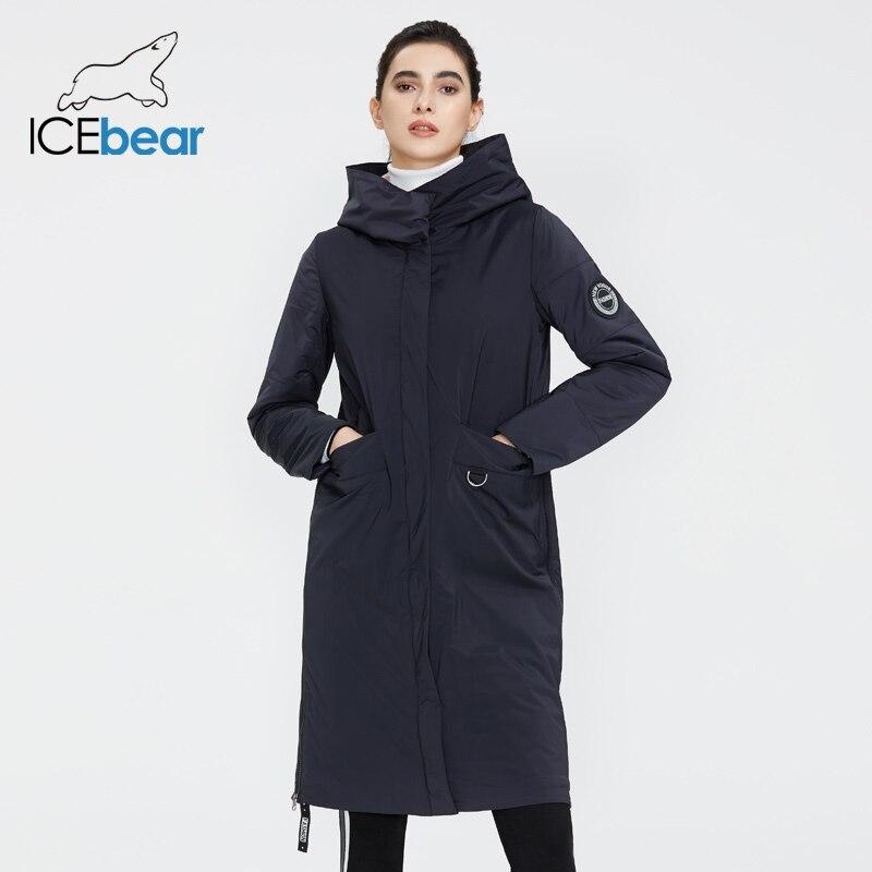 ICEbear 2020 Women spring jacket quality women coat long female clothing brand clothing GWC20066I(China)