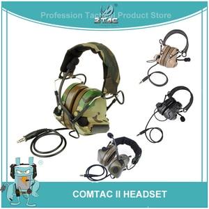 Image 1 - Z טקטי טק אוזניות Peltor Comtac השני קסדת תעופה אוזניות Airsoft פעיל אוזניות צבאי ירי אוזניות Softair