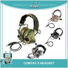 Z Tac Casco táctico Peltor Comtac II, auriculares de aviación Airsoft Active, auriculares militares de disparo, Softair
