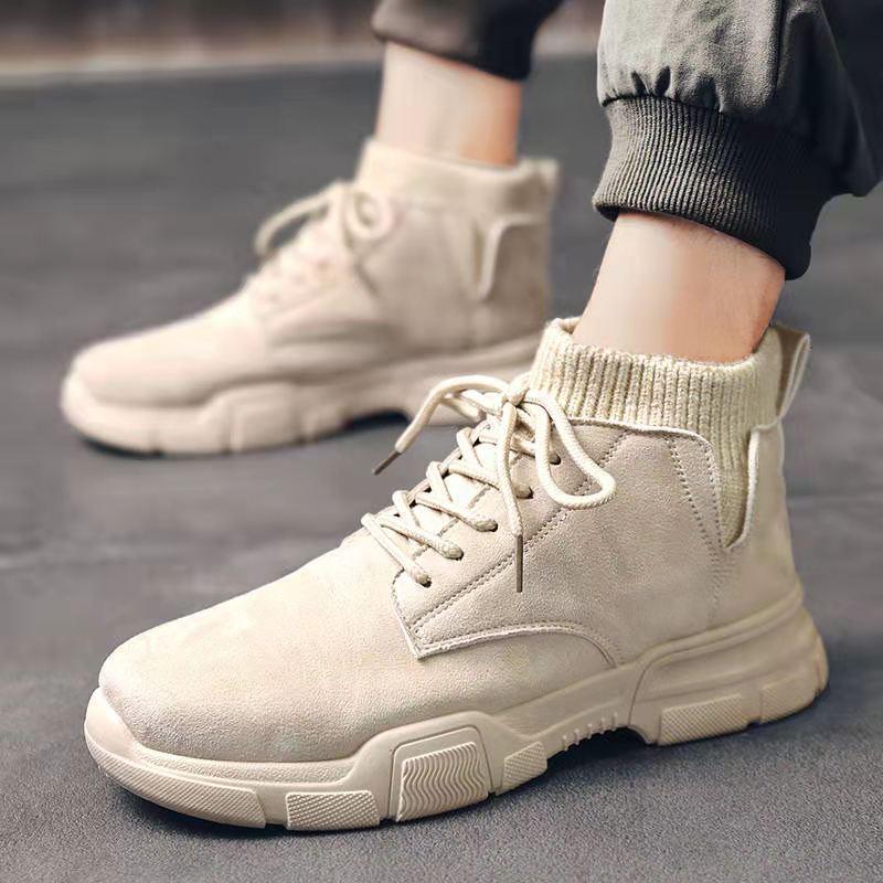 Martin Boots Men Shoes Beige 2019 New