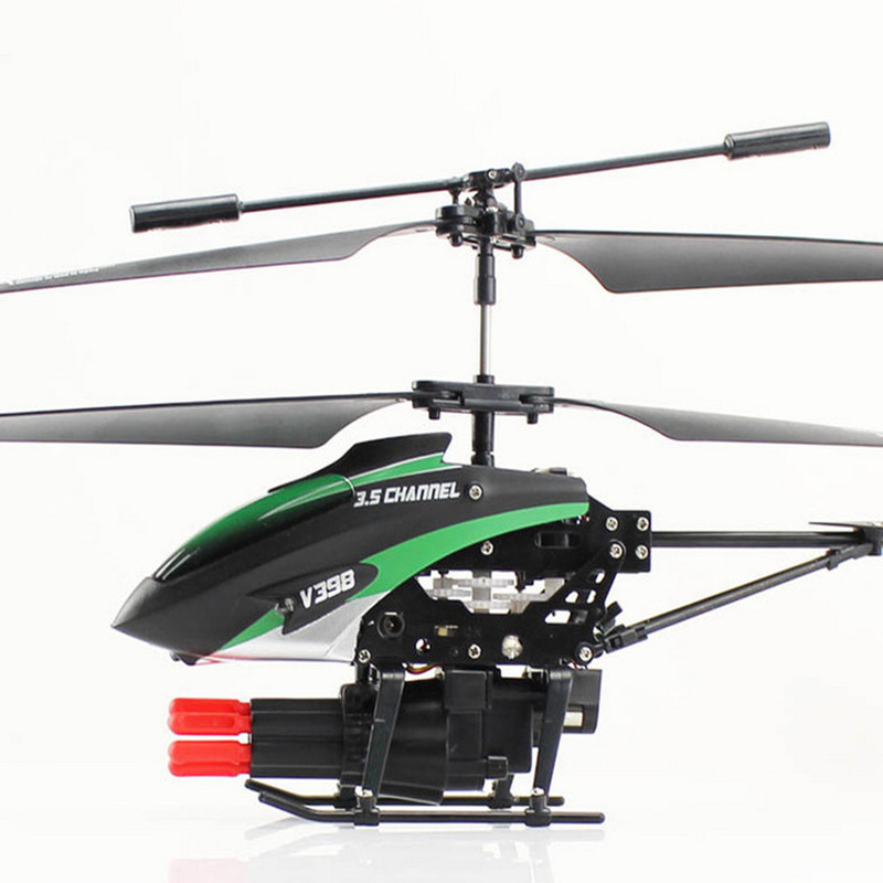 Weili V398 Shoot Bullets 3.5-Way Remote Control Helicopter Projectile Aircraft Machine Gun Fighter Airplane Model Toy