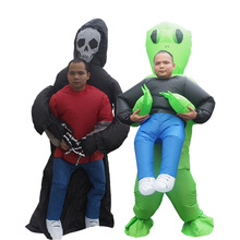 Ghost Inflatable Alien Costume minion Anime Cosplay Grim Reaper Pikachu Suit Adult Men Halloween Alien Ghost Costumes For Women
