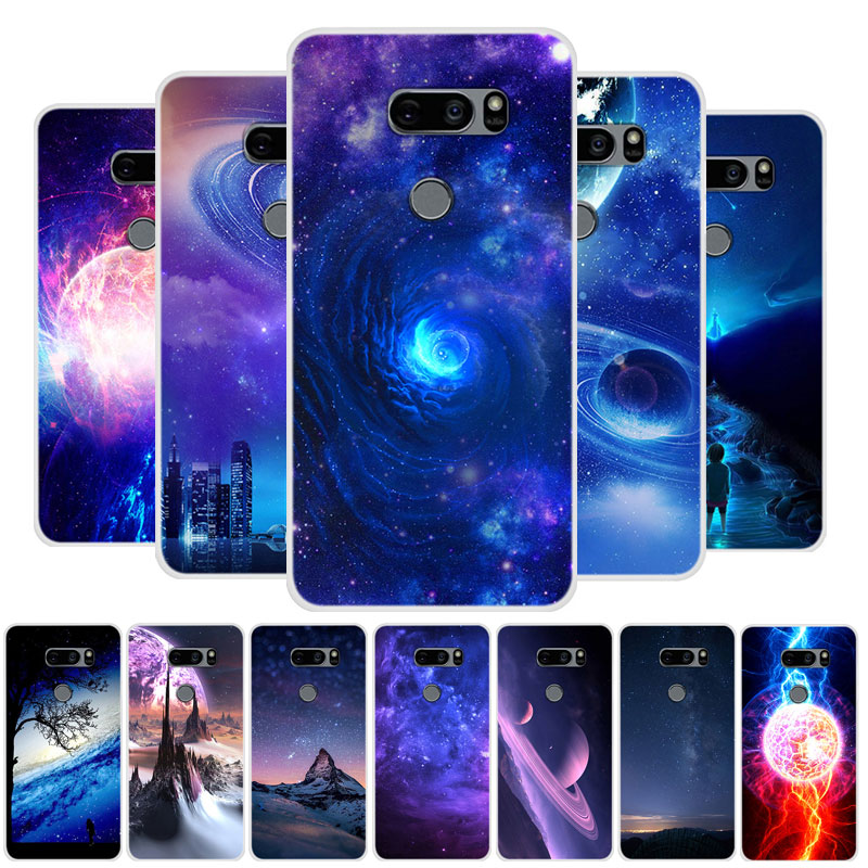 Case For LG V35 Thinq Case Cover Planet Silicone Soft TPU Funda For LG V35 V350AWM Case V35+ Thinq Phone Case LGV35 V 35
