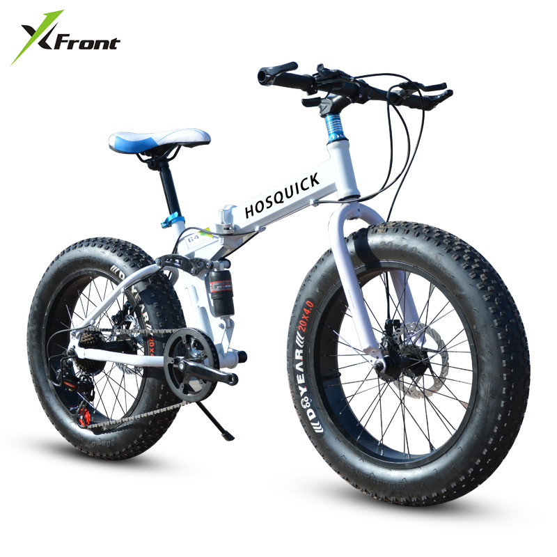 New brand 4.0 wide fat tire downhill mountain beach snow bicycle outdoor sport 20/26 inch 27 speed folding bike image