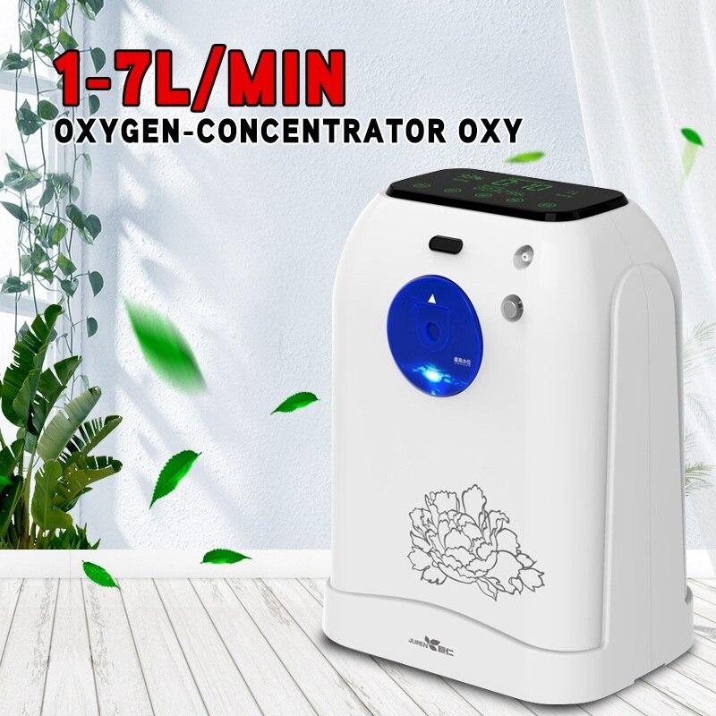 Przenośny koncentrator tlenu 93% wysokiej czystości 6L przepływu O2 generatory oczyszczacz powietrza wentylator maszyna tlenowa dla domu
