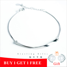 ZOBEI Real 925 Sterling Silver Minimalist Round Chain Bracelet For Fashion Women 2019 Party Geometric Fine Jewelry Classic Gift